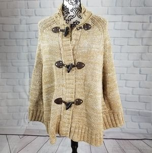 Michael Kors zip front sweater cape size small